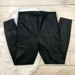 Zara Pants - Zara Trafaluc Faux Leather Leggings